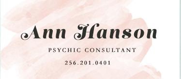 Ann Hanson - psychic clairvoyant