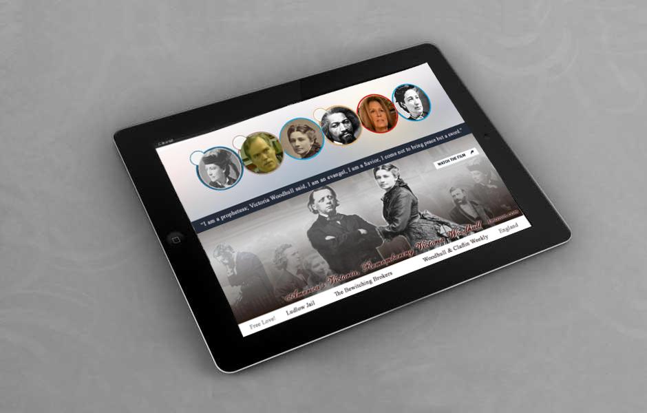 Victoria Woodhull iPad App mock up